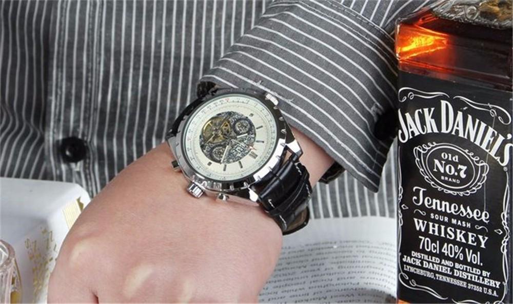 2016 JARAGAR Tourbillon Автоматические Часы Мужские Лучший Бренд Класса Люкс Кожаный Ремешок Бизнес Механические Наручные Часы Montre Homme Нобелевской