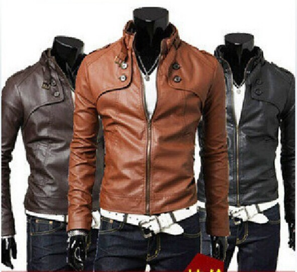 2015 Men's Clothing Slim Casual Leather Jacket Men Water Wash Motorcycle PU Leather Jackets Suede Outerwear Male Coats #9038(China (Mainland))
