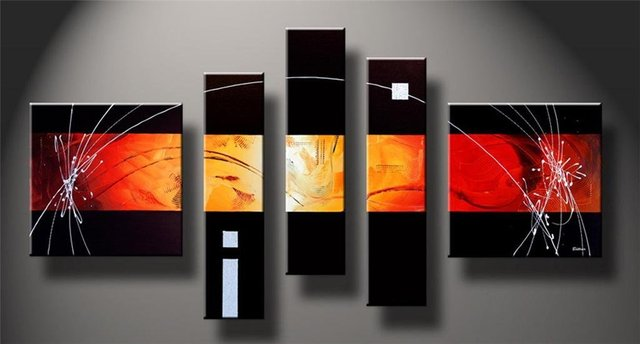 Modern Oil Painting On Canvas  abstract painting Guaranteed 100% Free shipping YP758