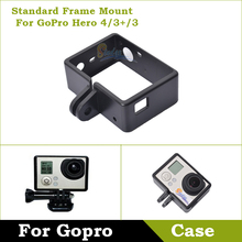 Case For Gopro Standard Protective Frame Mount Housing Frame Mount For GoPro Camera HERO3+/3 4 Accessories Camera Black Edition