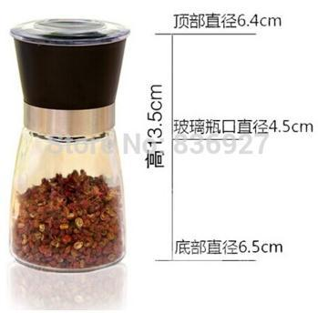 spice and pepper shakers bottle Pepper grinder grinding bottles pepper mill manual 150ml(China (Mainland))