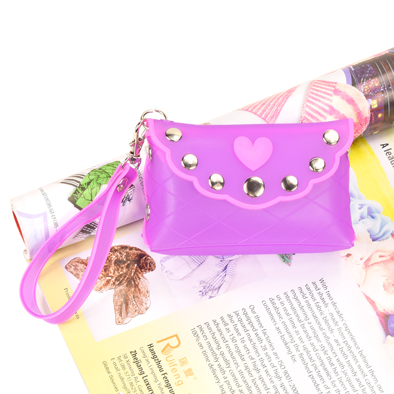 New Summer Cute Candy Color Cartoon Women Girls Wallet Multicolor Jelly Silicone Coin Bag Purse Kid Gift Square Hasp(China (Mainland))