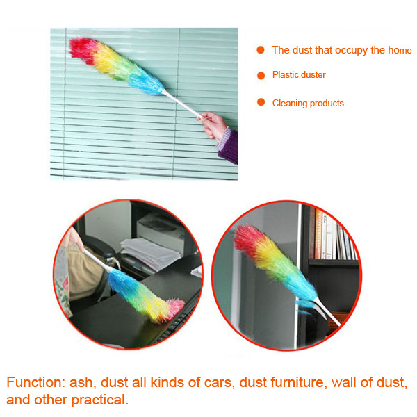 56cm Microfiber Magic Anti Static Cleaning Feather Duster Dust Cleaner Handle(China (Mainland))