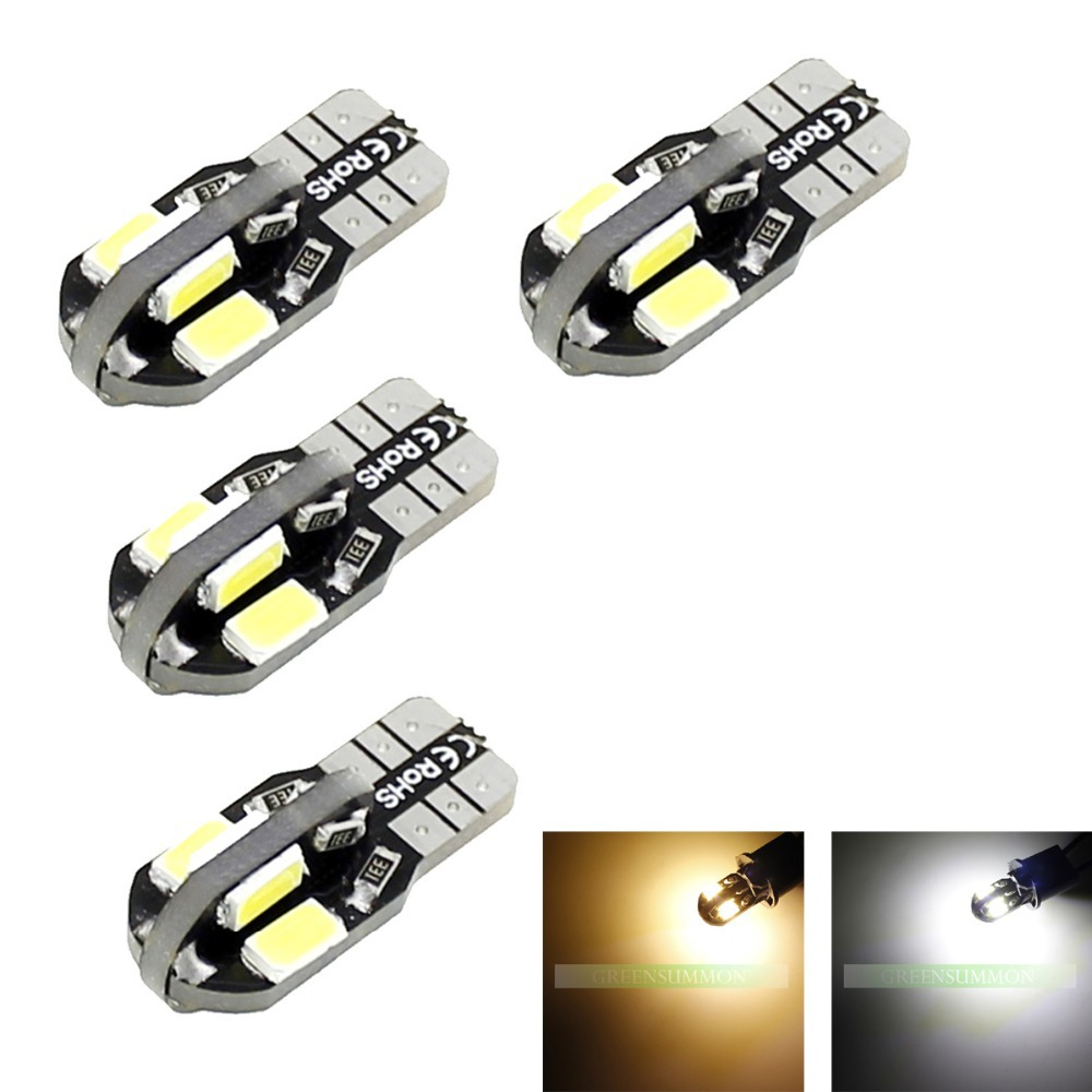 Wholesale NEW 4pcs/Lot Canbus T10 8smd 5630 5730 LED car Light Canbus NO OBC ERROR T10 W5W 194 SMD Led Bulb(China (Mainland))