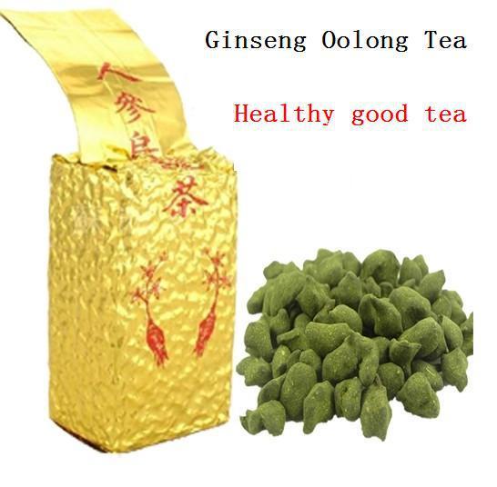 250g Free Shipping Famous Health Care Tea Taiwan Dong ding Ginseng Oolong Tea Ginseng Oolong ginseng tea +gift Free shipping(China (Mainland))