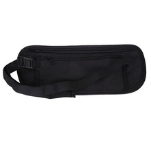 Breathable Mesh Cotton Cloth Close-Fitting Security Pocket Money Waist Belt Pouch Bag for Outdoor Sport E1Xc