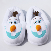 11'' 28cm Winter Slipper Olaf Plush Slippers In door shoes free size Free Shipping(China (Mainland))