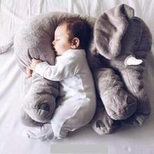 1Pcs 60cm Cute Elephant Plush Toys Cute Dolls Soft Pillows Baby Sleeping Pillow doll Girl's birthday gift(China (Mainland))