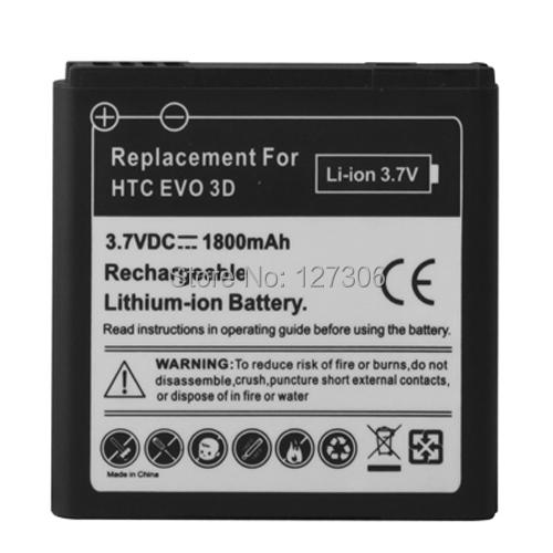 1800mAh Mobile Phone Battery for HTC EVO 3D / Sensation XL / G14 / X515m / G17 Sensation XE Z715e / G18