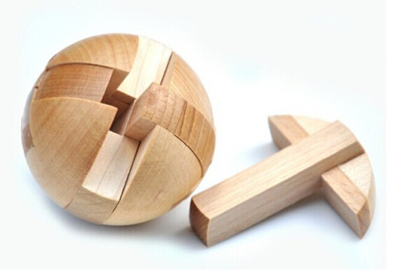 Classic IQ Wooden Burr Interlocking Puzzle Traditional Mind Brain Teasers Educational Game Toys for Adults Children(China (Mainland))