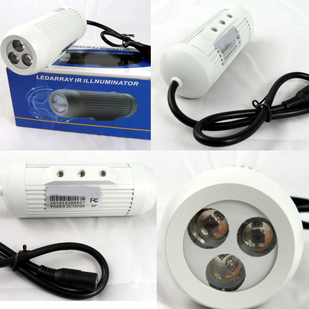 Infrared Illuminator CCTV Security Monitor HD LED array invisible indoor / outdoor 2800mw850nm 50M L-50R60 degree IP-66 silver(China (Mainland))