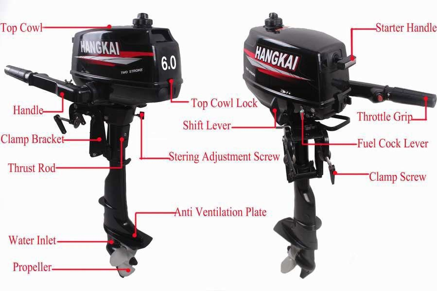 Factory price promotion hot brand new hangkai outboard for Yamaha 6hp outboard motor