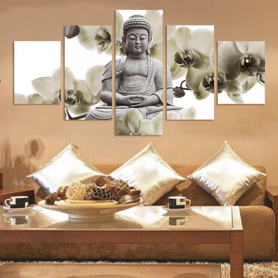 Online get cheap modern buddha painting - Deco chambre zen bouddha ...