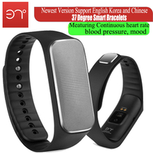 2016 new Version 37 degree smartband Smart bracelet fiteness tracker meaturing heart rate blood pressure mood pedometer