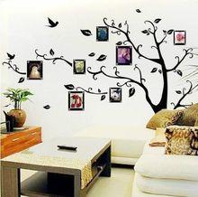 Grandes mariposas árbol genealógico marco de fotos pegatinas de pared 3d diy de la foto del árbol de pvc pegatinas de pared arte mural decoración para el hogar(China (Mainland))