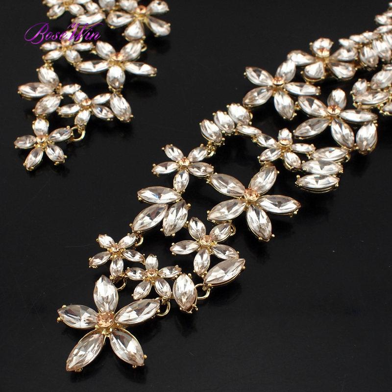 2015 старинные ювелирный сплав инкрустация имитации драгоценных камней крутящий момент колье роскошный цветок длинные кристалл воротник женщин заявление ожерелья