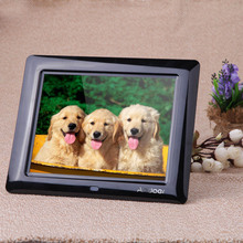 Hot-sale Picture Frame 8inch HD TFT-LCD Digital Photo Frame with Alarm Clock MP3 MP4 Movie Player with Remote Desktop EU/US(China (Mainland))
