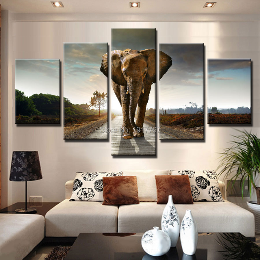 Elephant picture African elephant home decor