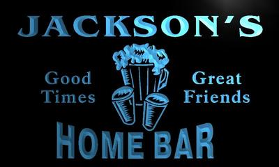 x1013-tm Jackson's Home Bar Custom Personalized Name Neon Sign(China (Mainland))