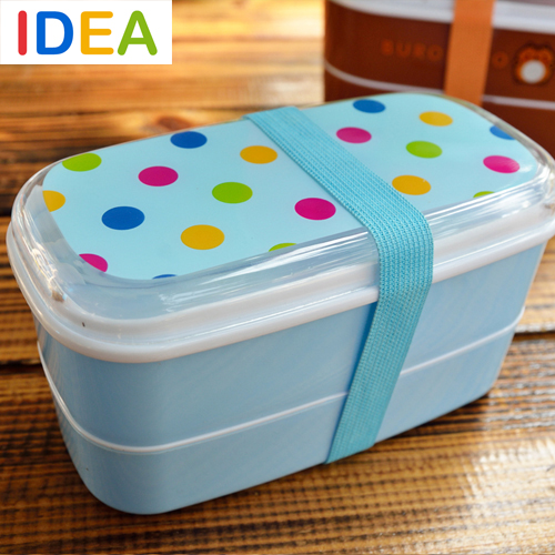[ IDEA ]^_^Multicolour Speck Japanese Bento Lunch Box Container Food Kids Thermos - Feel at home----Home & Garden store