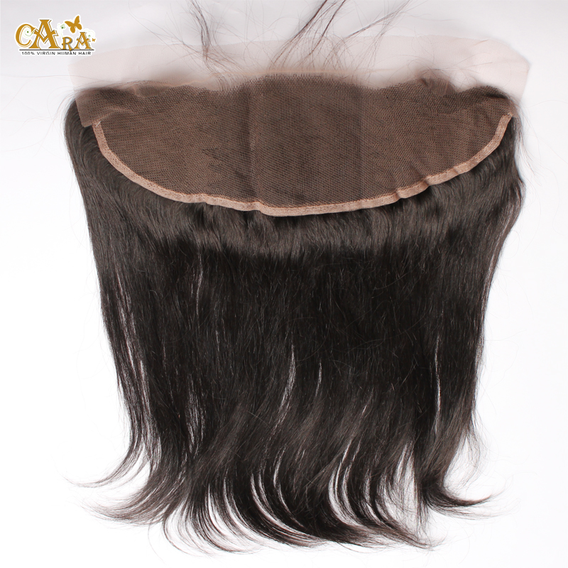 Фотография 6A Grade Brazilian Silk Straight Hair Lace Frontal Closure With Baby Hair 13X4