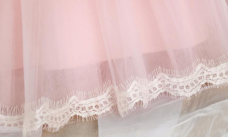 Скидки на Южнокорейские детская Одежда Девушки С Длинными рукавами Весной и Осенью Платье Принцессы Детская Одежда Лук Кружева Розовый Белый тонкий Толстый