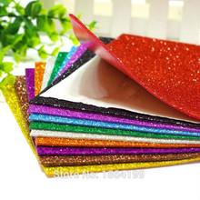 10pcs/lot A4 Adhesive EVA Glitter Foam Paper Colorful Paper Home Wall Decorations,diy Handmade Materials,paper craft(China (Mainland))