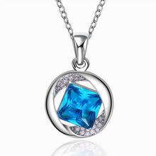 free shiping 18k white gold pendants Voyages Charm rhinestone necklace collar fine jewelry Valentine best gift for women 18N802(China (Mainland))