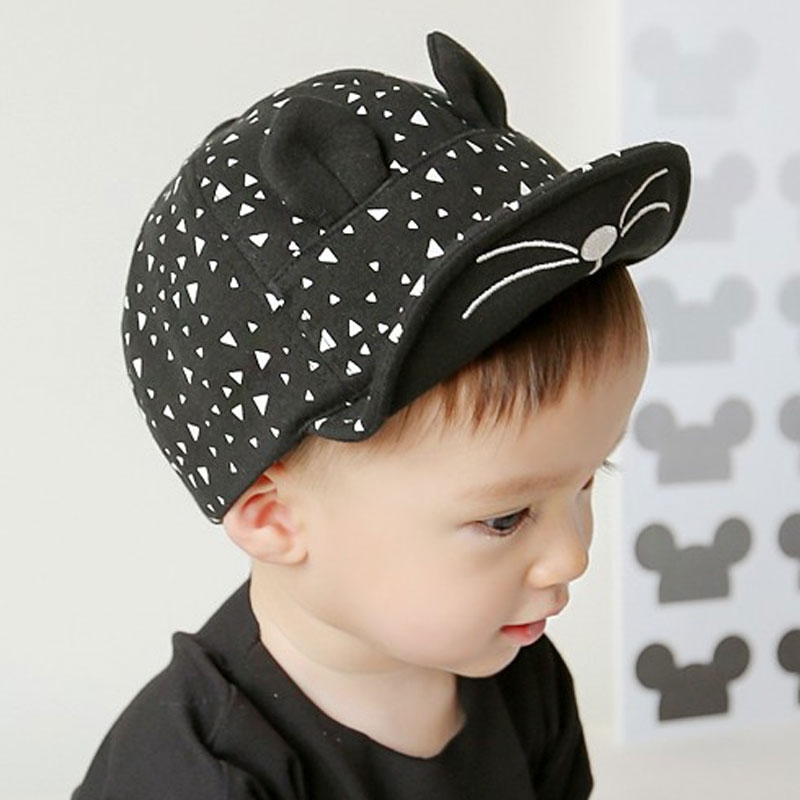Baby Cap for Boys Girls Cute Cat Style Kids Children Hat Cotton Snapback Baseball Caps Spring Autumn Infant Toddler Casquette(China (Mainland))
