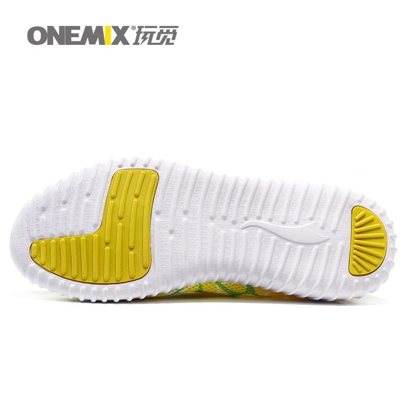 ONEMIX Man Running Shoes For Men Lightweight Athletic Trainers Black Zapatillas Sports Shoe Outdoor Walking Sneakers Free Ship