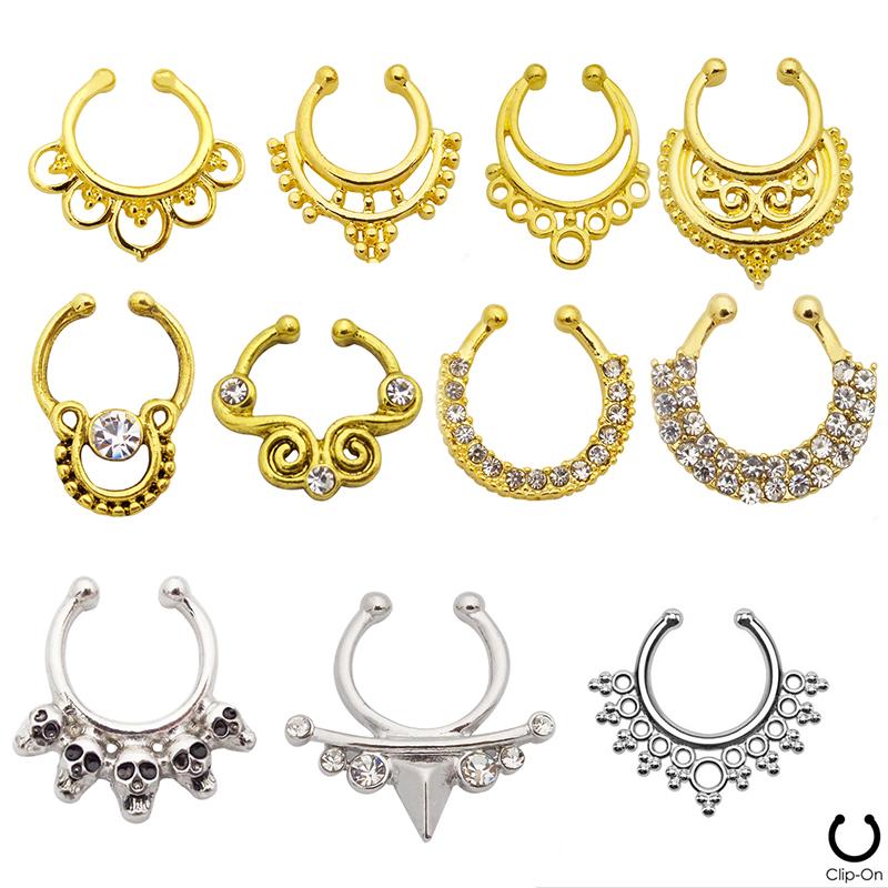 indian pattern mod les or faux nez piercing anneau non piercing nez bijoux faux septum. Black Bedroom Furniture Sets. Home Design Ideas