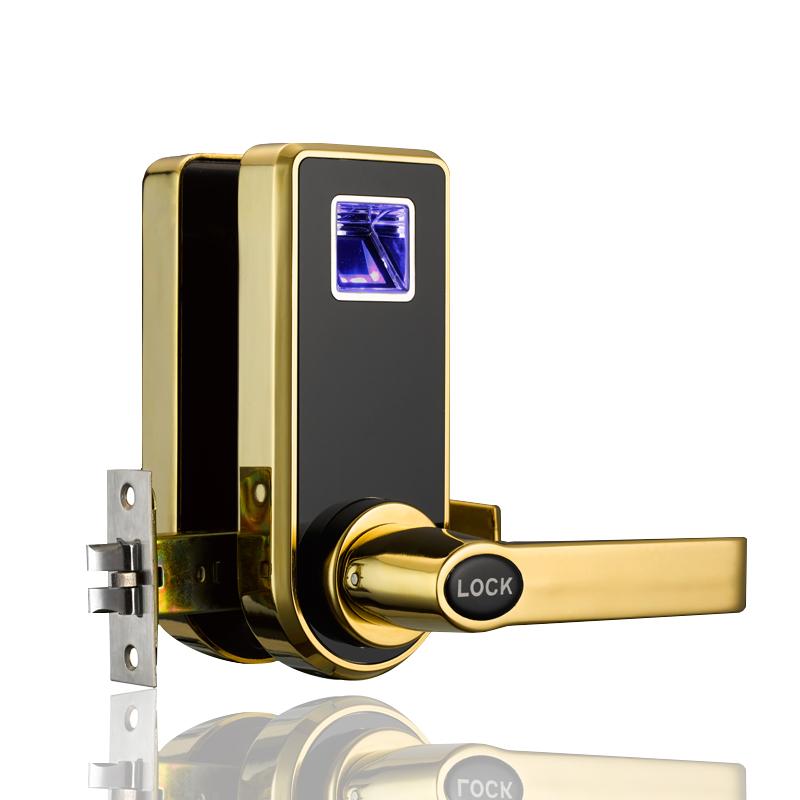 Single mortise Wooden Door Fingerprint Lock Indoor Bedroom Lock Is Easy To Install for Apartment(China (Mainland))