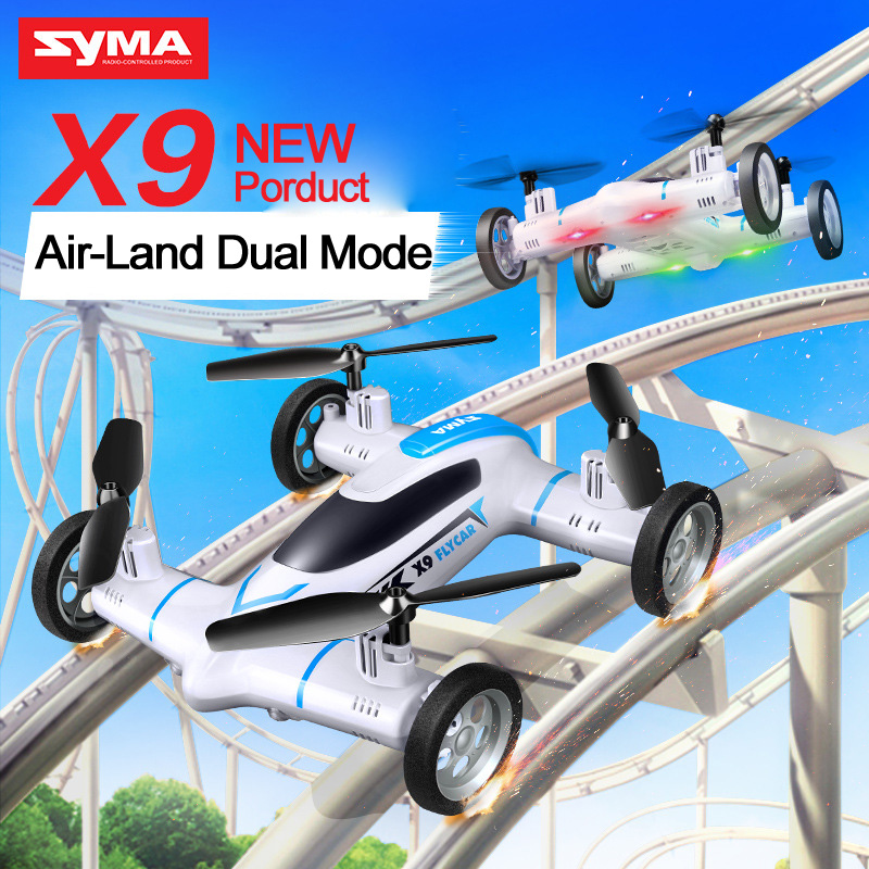 Syma X9 Mini Drone Air-Land Dual Mode RC Flying Car Quadcopter 2.4G 4CH 6-Axis Speed Switch With 3D Flips VS Syma X5 X5C X5SW(China (Mainland))