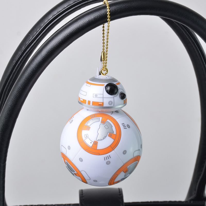 8.5cm Star Wars funko pop The Force Awakens bb8 bb-8 R2D2 Droid Robot Keychain kids toys Action Figure Stormtrooper Clone Strap(China (Mainland))