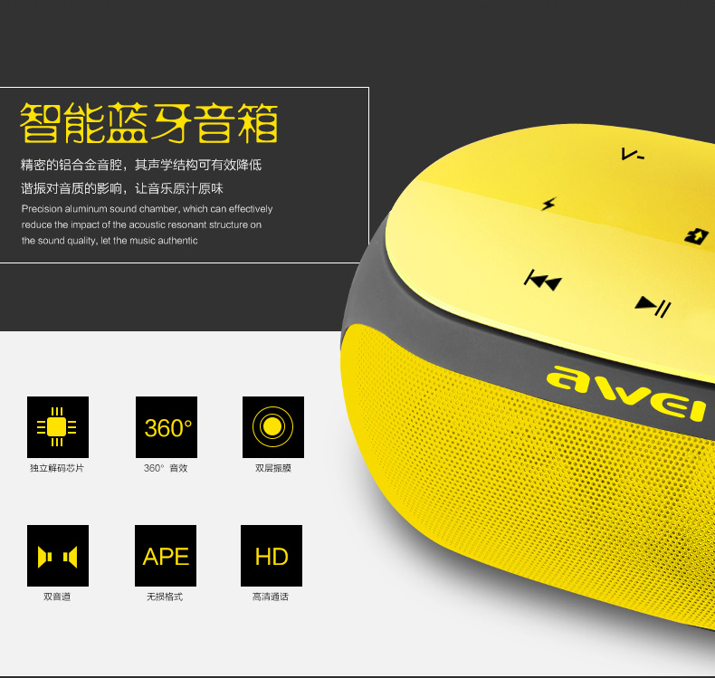 Subwoofer Bluetooth Speaker Stereo Wireless Portable Mini Speakers Support TF Card AUX Input with Microphone XY1250 Sound Box