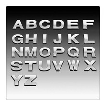 1pcs/1.21$ hrome 3D ABS 25mm Capital English Letters Numbers DIY Stickers Personalized Car Logo Emblem Badge