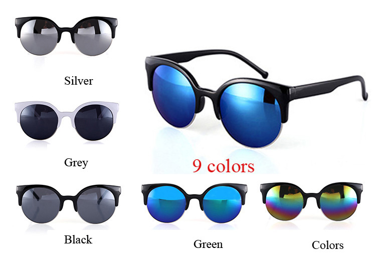 2015 New Colorful Women Sunglasses Cat Eye Sunglasses Designer Men Sunglass Summer Style Sunglasses Goggles gafas de sol(China (Mainland))