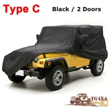 High Quality Car Covers for Jeep for Wrangler Carcover 2/4 Doors Waterproof UV-Proof Camouflage Silver Black Cover for Cars(China (Mainland))