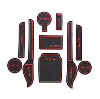 car styling crazy sale Decoration sticker for car anti slip mat , gate slot pad,door mats,carpet,Interior Door Cup Holder(China (Mainland))