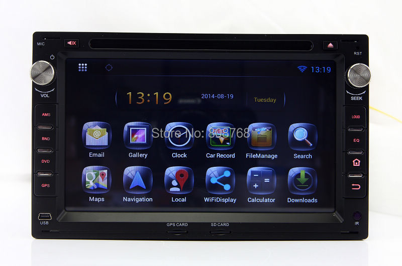 Android 4.4 Head Unit Car DVD Player for VW Volkswagen Chico Sharan Polo Transporter T5 with GPS Navigation Radio TV BT MP3 WIFI(China (Mainland))