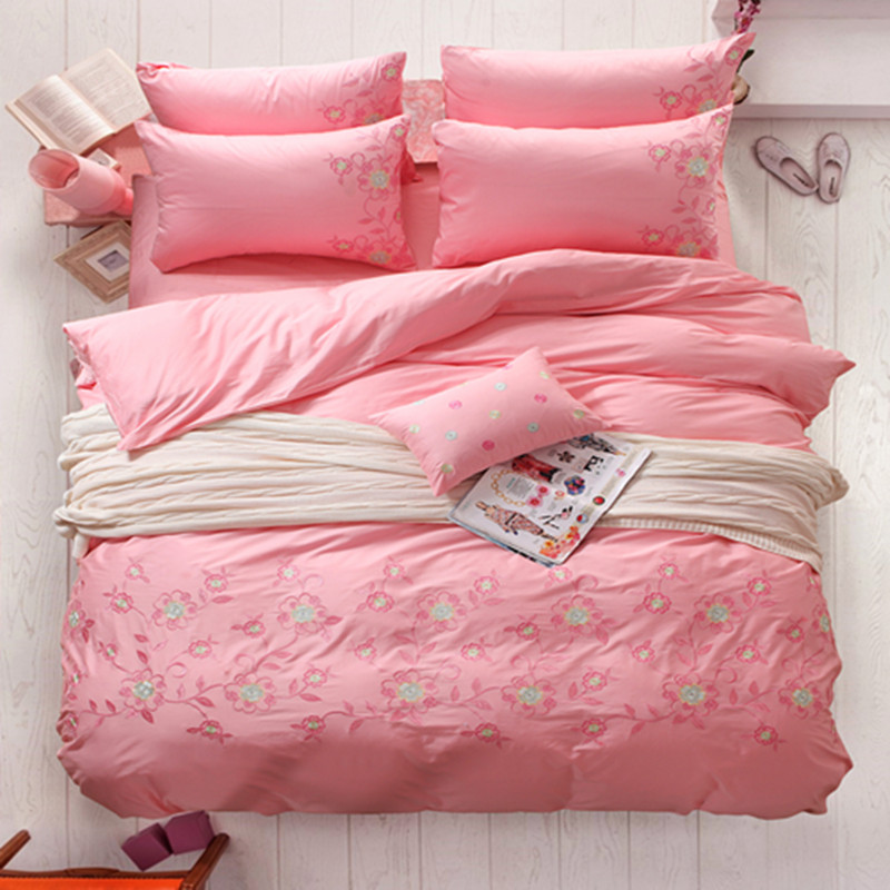 Achetez en gros drap de lit de broderie en ligne des for Housse de couette broderie anglaise