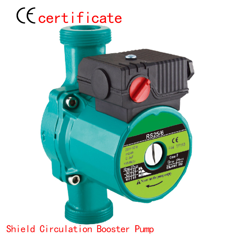 CE Approved shield circulating booster pump RS25-6, use for household pipe, shower, air conditioning, pressurized for industry.(China (Mainland))