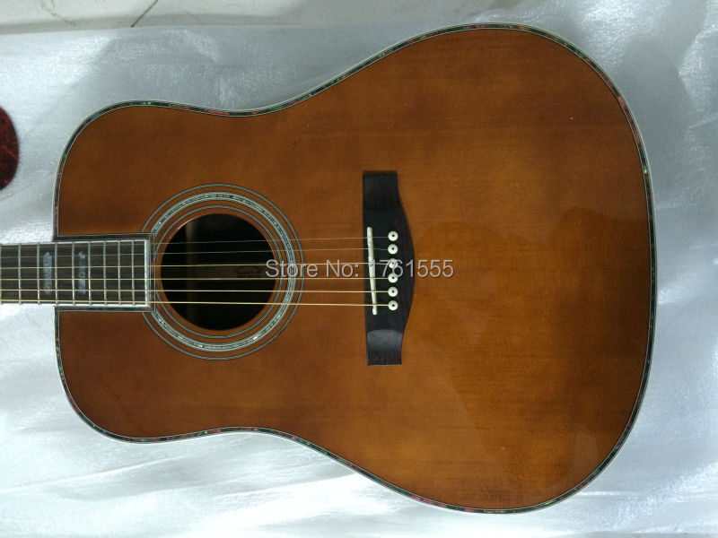Factory custom MT D-45 classical Acoustic Guitar,China New Arrival Solid spruce top,Free Shipping Beauty(China (Mainland))