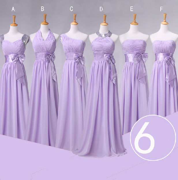 Plus size lavender bridesmaids dresses