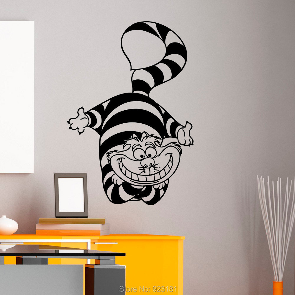 Alice In Wonderland Cheshire Cat Wall Art Sticker Decal Home DIY