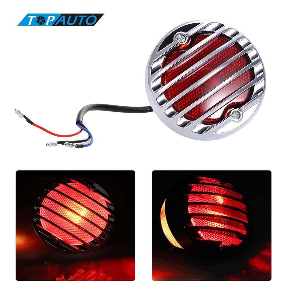 Universal Motorcycle Rear License Plate Light Brake Stop Lamp Motorcycle Taillight for Harley Honda Yamaha Suzuki Ducati(China (Mainland))
