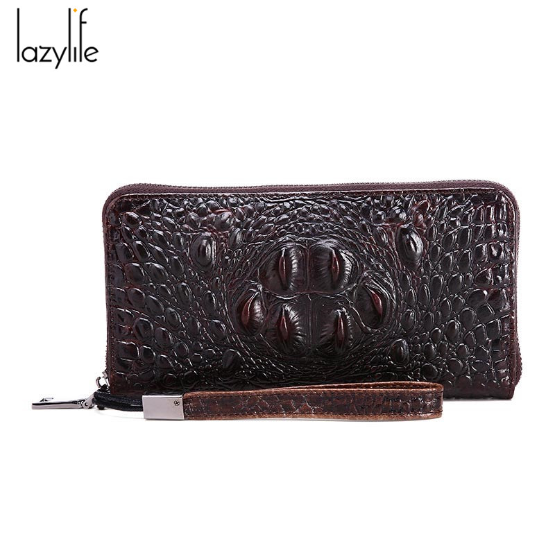 LAZYLIFE 3D Women Wallets Alligators Genuine Leather Money Female Wallet Brand Designers New Long Bag Ladies Clutch Coin Purses(China (Mainland))