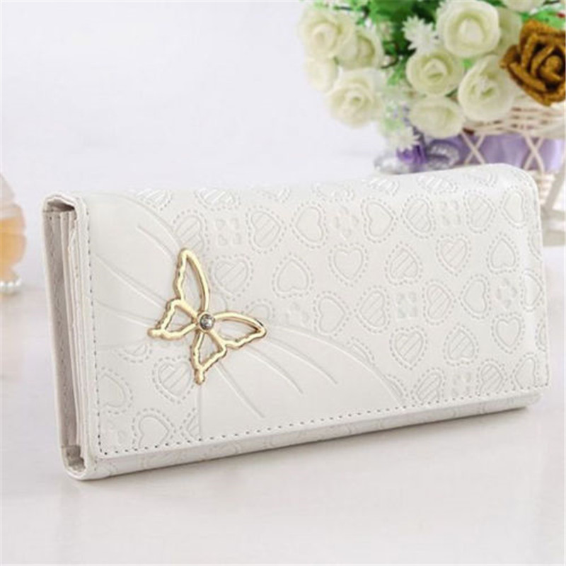 2015 Fashion Lady Wallet Butterfly PU Leather Long Purse Clutch Zip Card Holder Bag Handbag High Quality Free Shipping N523<br><br>Aliexpress