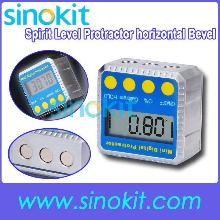 Free Shipping Mini Digital Protractor Bevel Box / Inclinometer (0~360) STDJT-1201Q<br><br>Aliexpress