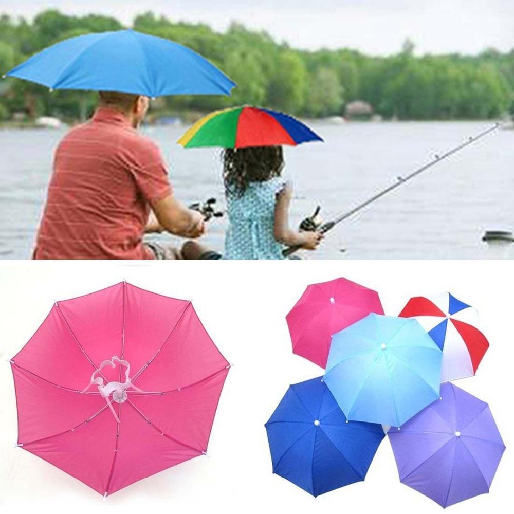 Sun Shade Umbrella Hat,Golf Fishing Hiking Beach Camping Headwear Cap,Rain Umbrella Head Hat ,Sunbonnet Headwear(China (Mainland))